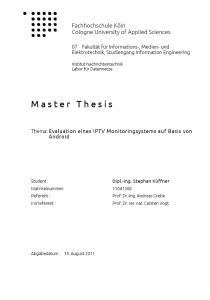 Master Thesis von Stephan Küffner
